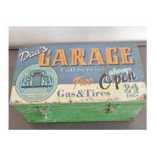 Dads Metal Vintage Distressed Aged Garage Storage Box | Tools Nic Nacs