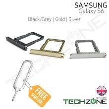SAMSUNG Galaxy S6 G920 G920F Sim Card Tray Holder Slot + Free Ejector Pin Tool