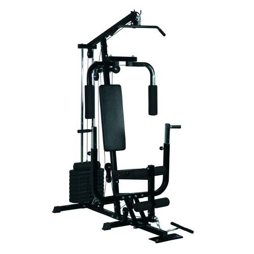 HOMCOM Black Home Fitness Multi-Gym   Workout Station