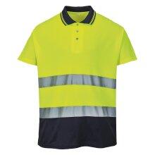 Portwest Mens Hi-Vis Two-Tone Cotton Comfort Polo Shirt