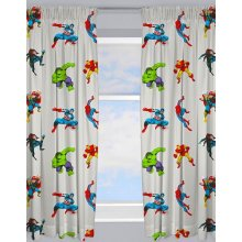 Marvel Comics Grey Ready Made and to Hang Curtains
