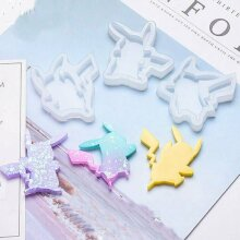 Cartoon Silicone Jewellry Pendant Mold Making Resin Mould Epoxy Casting DIY Tool