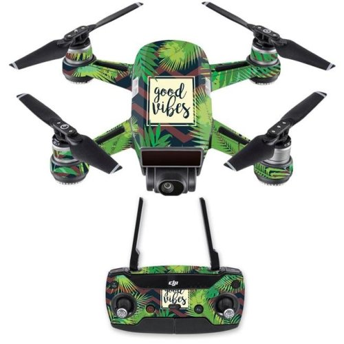 MightySkins DJSPCMB-Vibes Skin Decal Wrap for DJI Spark Mini Drone Combo Sticker - Vibes