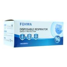 FOHWA Disposable 3 Ply Face Masks (50 Per Box)
