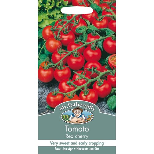 Mr Fothergills - Pictorial Packet - Vegetable - Tomato Red Cherry - 50 Seeds