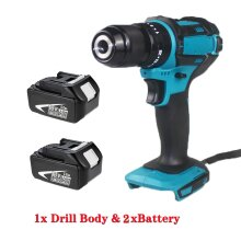 For Makita Cordless Impact Hammer Drill  DHP484Z 3in1+5.0A 2Batteries