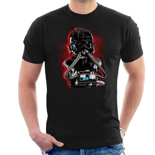 Original Stormtrooper Imperial TIE Pilot Red Burst Men's T-Shirt