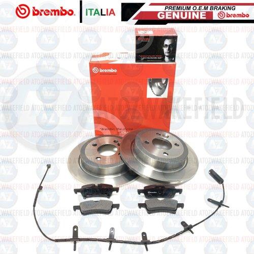 FOR MINI COOPER S R52 JCW REAR BREMBO BRAKE DISCS PADS WEAR WIRE SENSOR 259mm