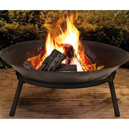 Cast Iron Outdoor Fire Pit Bowl Round Patio Fire LARGE Outdoor Fire Pit 50cm