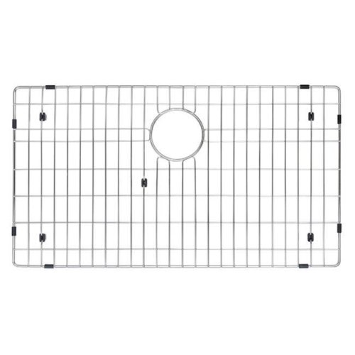 Kraus KBG-100-30 Stainless Steel Bottom Grid with Protective Anti-Scratch Bumpers for Kitchen Sink