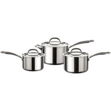 Circulon Ultimum 3 Piece Sauce Pan Set Stainless Steel Non Stick