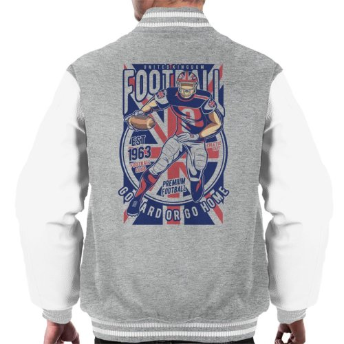 UK Football Go Hard Or Go Home Men's Varsity Jacket