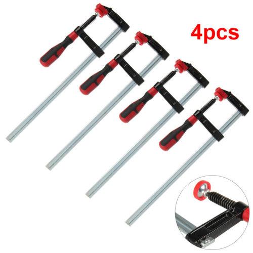 """4 Pcs/Set F Clamps Bar Clamp Heavy Duty 300mm x 50mm 12"""" Long Slide"""