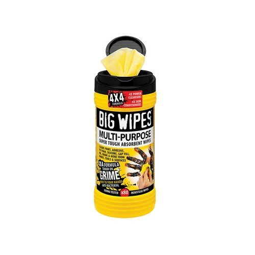 Big Wipes 2410 0000 4x4 Multi-Purpose Cleaning Wipes Tub of 80
