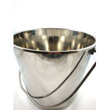 Stainless Steel Metal Bucket 12 Litres Food Catering Kitchen Chef - 12l Heavy -  bucket steel metal 12l stainless heavy duty galvanised