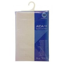 RTO prepacked Aida Cross stitch fabric IVORY 11 count, 15.5'' x 17.5''. 39cm x 45cm.