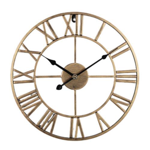 (Gold) UK STOCK ! Roman Numeral Clock – 40cm | Skeleton Wall Clock