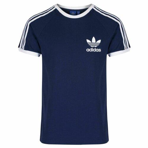 (S, Navy) Adidas Men's Trefoil California Cotton T Shirt