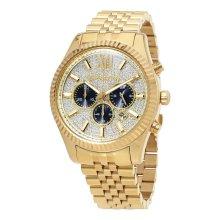 Michael Kors Lexington Men's Crystal Pave Chronograph Watch MK8494