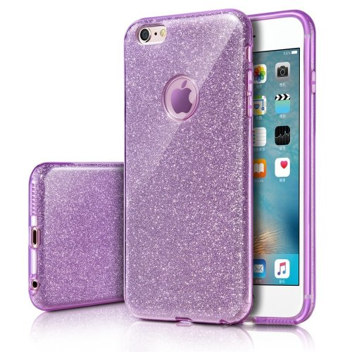 iPhone 6s Case, Milprox Girls SHINY GLITTER CASE [Bling Crystal Clear][Extremely Sparkly], Slim Premium 3 Layer Hybrid, Anti-Slick/ Protective/...