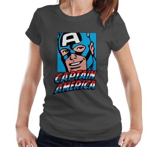Marvel Captain America Poster Portrait Design Women's T-Shirt