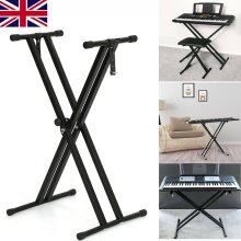 Electronic Piano Double Stand Music Keyboard Standard Rack Adjustables