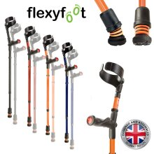Flexyfoot Shock Absorbing Comfort Grip Double Adjustable Crutches, Choice of Colours Available, Improve Safety, Improve Grip, Reduce Shocks & Jarring