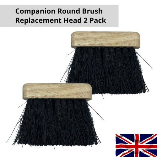 Replacement Companion Oblong Brush Head Fireplace Fire Hearth Refill Pack of 2