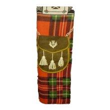 Red Royal Stewart Design Scottish Kilt Tartan Beach Cotton Towel