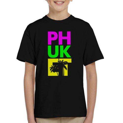 Phuket Retro Colour Text Kid's T-Shirt