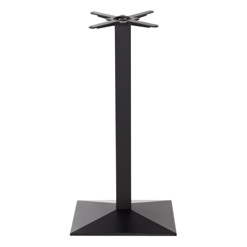 Black cast iron pyramid rectangular table base - Single Pedestal - Poseur height - 1050 mm