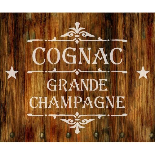 French Vintage Shabby Chic Mylar Stencil 'Cognac' A5 / A4 / A3 (143)