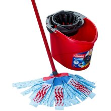 Supermocio 3action Xl Mop Bucket Set Non-Scratch Scourer Microfiber Strips