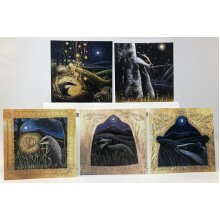 The Badgers Dream card pack of 5 cards by Hannah Willow
