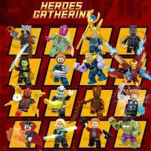 16 PCS Marvel Minifigure Minifigures Figures Compatible Lego Avengers Blocks Toy