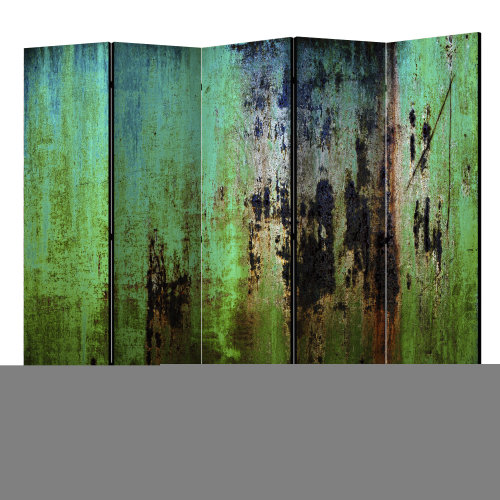 Emerald Mystery II Room Divider | Green Abstract Room Divider