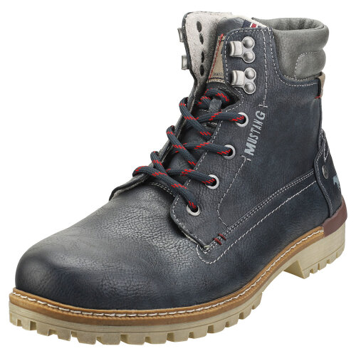Mustang Lace Up Side Zip Mens Chukka Boots