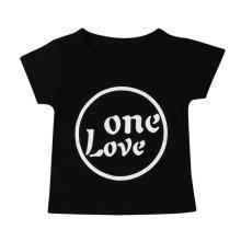 Newborn Infant Kids Baby Girl Short Sleeve Letter Print T-shirt Outfits Clothes Print infant t shirt Drop ship