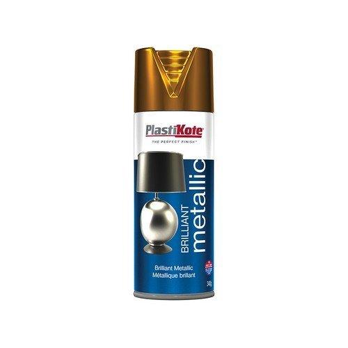 Plasti-Kote PKT162 Brilliant Metallic Spray Copper 400ml
