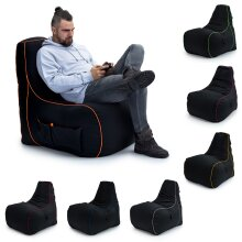 GAME OVER Bean Bag Gaming Chair Adult Gamer Seat
