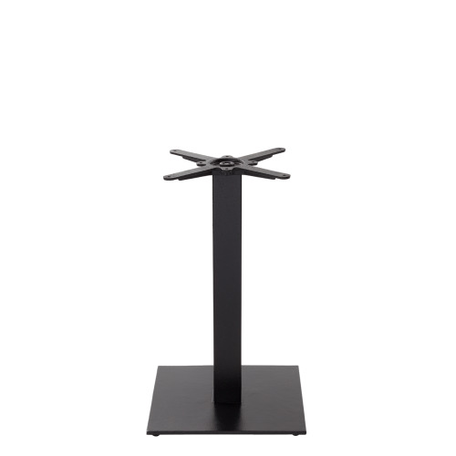 Black cast iron square table base - Medium - Dining height - 730 mm