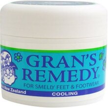 Grans remedy Original Powder Mint For Smelly Feet and Footwear 50G