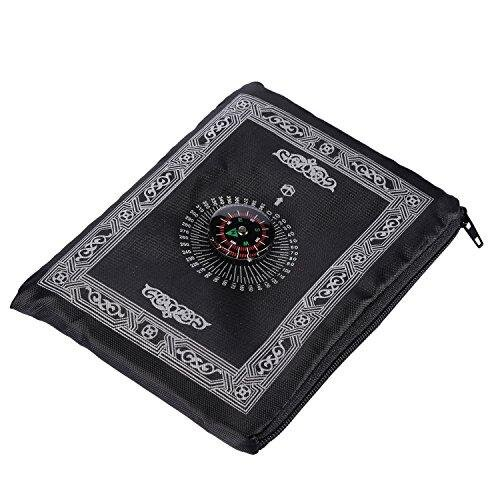 Hitopin Portable Travel Prayer Mat with Compass Pocket Sized Carry Bag and Attached Compass Praying Rug Portable Nylon Waterproof Easy Praying Mat 6
