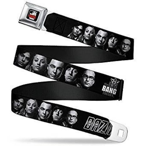 Seatbelt Belt - The Big Bang Theory - V.14 Adj 24-38' Mesh New bbta-wbbt031