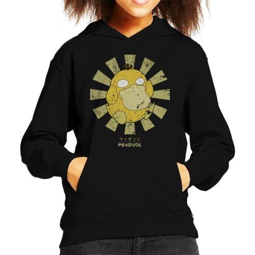 Psyduck Retro Japanese Pokemon Kid's Hooded Sweatshirt