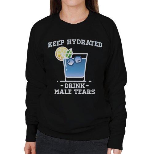(Medium, Black) Anti Men Keep Hydrated Drink Male Tears Women's Sweatshirt