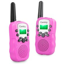 Walkie Talkies for Girls Long Range Built-in Torch 446MHz Walky Talky Birthday Present Toys for Outdoor Camping Hiking Pink