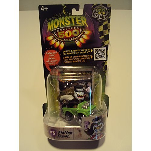 Monster 500 Trading Card &amp Small Car Figure Flattop Frank