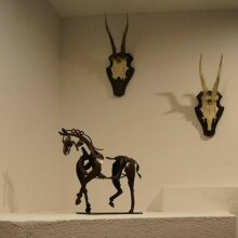 Metal Three-dimensional Openwork Adonis-horse Sculpture Decorative Ornaments