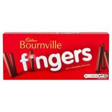 3 x Cadbury Bournville Dark Chocolate Fingers Biscuits 114g